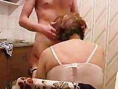 Granny Gets Fucked Forth Kitchen