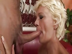 Hairy Blonde Mature Fucks Younger Guy LST