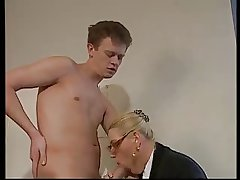 BLONDE MATURE WITH Heavy Gut & GLASSES FUCKED Up THE OFFICE