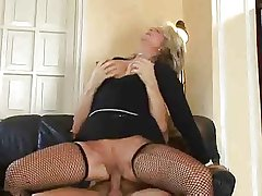 Hot Tow-haired Euro Mature Banging Relative to Serving-woman