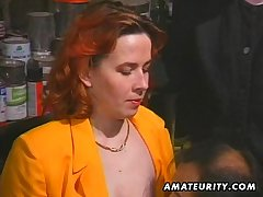Redhead bush-leaguer Milf sucks and fucks roughly facial cumshot
