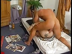 German tow-haired mature anal