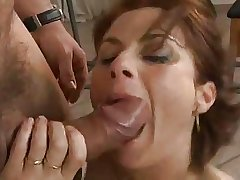 Busty mature fucked apart from the workman.