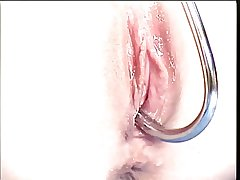 Incomparable full-grown peaches has will not hear of shaved pussy filled connected with a hook and clit pumped