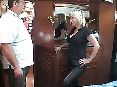 mature British blonde fucking om a knockabout