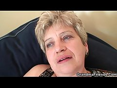 Nasty granny takes two cocks needed