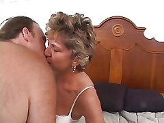 Mature older dame with a shaved pussy loves a cock plenary in her ass